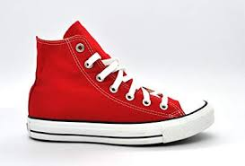 Converse Shoes High Tops Red Womens Amazoncom Converse Unisex High Top Sneakers Red M9621 95