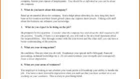 Star Interview Answers Examples