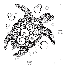 sea turtle ocean vinyl wall art decal