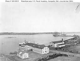 Image result for The U.S. Naval Academy opened in Annapolis in October 1845,