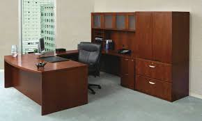 office furniture designer. Executive Office Furniture Best Classic Design Brown Lacquered Finish Rectangle Wooden Table Black Chairs Generous Shelves Designer