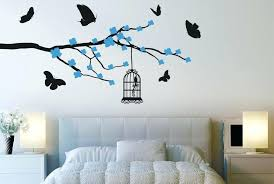 tree wall clings erflies bird cage trees wall stickers art decals cherry owl tree wall decal