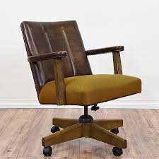 wooden swivel office chair. Wooden Swivel Office Chair. This Retro Armchair Is In Great Condition With Rolling Wheels A Chair C