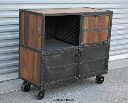 Industrial Bar Cabinet Bar Cart Liquor Cabinet Vintage Industrial Urban Modern