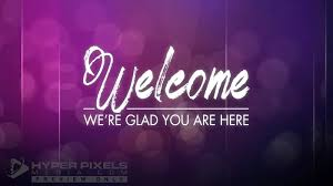 Welcome Purple Royal Glass Welcome Loop Motion Loop For Worship