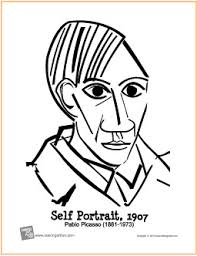 Small Picture Self Portrait Picasso Free Printable Coloring Page
