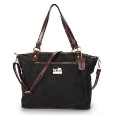 Cheap And Fashion Coach Logo Monogram Medium Black Totes BJZ Are Here!