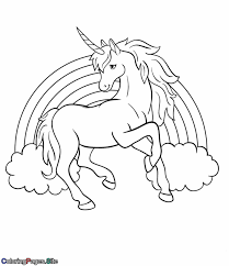 Coloring Pages Unicorns Rainbow And Unicorn Free For Kids 10941266