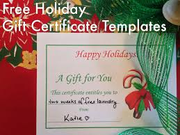holiday gift certificates templates to print hubpages