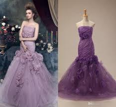victorian purple mermaid gothic wedding dresses strapless handmade