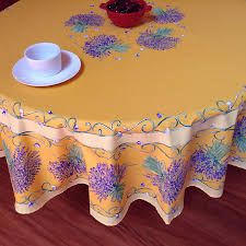 70in or 90in round french cotton tablecloth