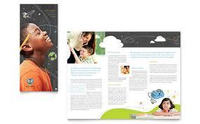 Template Brosur Tri Fold School Brochure Template Brosur Sekolah Education School