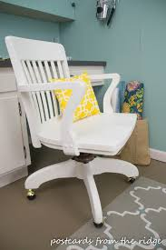 white wooden office chair. Vintage Wood Desk Chair Rescue And Redo Postcards From The Ridge White Wooden Office C