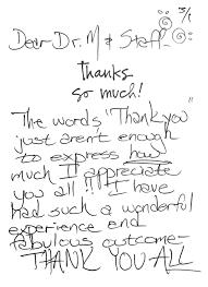 Testimonials Thank You Cards Dr Movassaghi