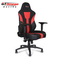 com gt omega master xl racing office chair black and red leather esport gaming seat kitchen dining