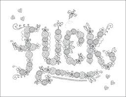 Crafty Design Swear Word Coloring Pages Printable Small Words Fuck