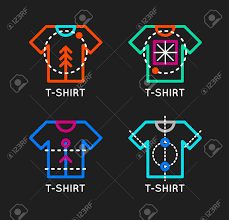 Design At Shirt Logo Online Free Vector T Shirt Logo Set Online Shop Logo Clothing Shop Vector