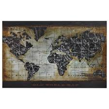 World Map Art Framed  Regn With Framed World Map Wall Art (Image 18 of