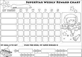 Weekly Reward Chart Printable Preschool Reward Chart Printable Activity Shelter
