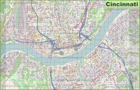 large detailed map of cincinnati