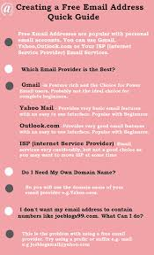 how to create your own email address create email address infographic