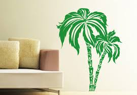 palm tree wall stickers: trees amp twines  wall vinyl decal palm tree decor h