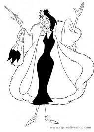 Crudelia De Mon Disney Disegno Da Colorare