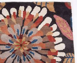 brown pink green blue gold hand tufted wool area rug carpet 5x8 contemporary