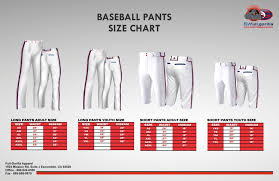 Baseball Pants Size Chart Specials Promos California Full Gorilla Apparel