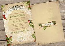 christmas wedding invitations ebay Wedding Invitations Christmas personalised vintage postcard christmas wedding invitations packs of 10 wedding invitations christian