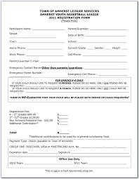 Registration Form Template Word Free Sports Registration Form Template Fonder Fontanacountryinn Com