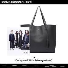 miss lulu women soft leather handbag shoulder bag tote black 5