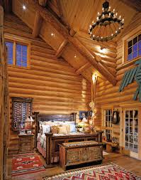 rustic style bedroom furniture rustic. Regal Rustic Bedroom Decors View With Log Wooden Wall Panel Also Mahogany Bed As Well High Ceiling Country Style Furniture W