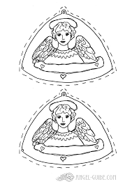 Angel Christmas Coloring Pages Pictures Of
