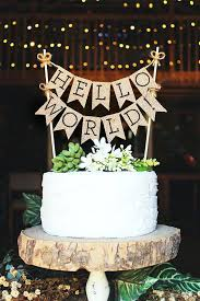 baby shower cake toppers ideas hello world cake topper baby shower cake topper hello baby rustic
