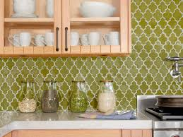How To Do A Kitchen Backsplash Cheap Kitchen Backsplash Made From Green Moroccan Patterned Tiles
