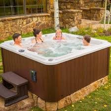 Above-ground hot tub / square / 7-seater / outdoor J-245 ...