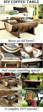 how to build a whiskey barrel coffee table ideas whiskey barrel diy wine barrel coffee table
