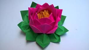 Paper Lotus Flower 20 Petals Lotus With Stamina Paper Lotus Flower Water Lily You Pick The Color