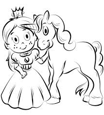 Each image also comes with a transparent background so you can overlay them onto patterned backgrounds or create coloring book scenes with the individual images. Coloring Pages Princess And The Unicorn Coloring Pages
