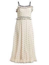 Polka Dot And Ruffle Embellished Dress Redvalentino