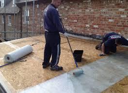 garage roof repair. yorkshire garage needing flat roof repair