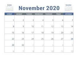 November 2020 Calendar Clip Art 104 359 Calendar Organizer Cliparts Stock Vector And
