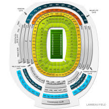 All Inclusive Lambeau Field Seating Chart Section 131