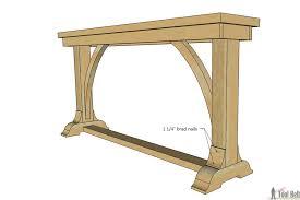 narrow sofa table. Add Molding Narrow Sofa Table O