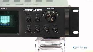 technical pro hybrid amplifier