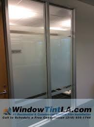create privacy in your office space by installing privacy frost