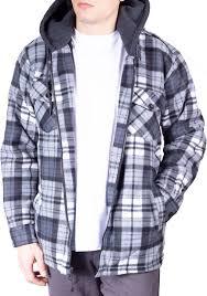 walnut creek walnut creek mens warm fleece lined plaid flannel hooded jacket com