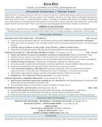 Consultant Resume Example Gorgeous Education Consultant Resume Example Teacher Coach