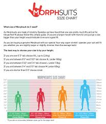 Morphsuit Size Chart Home Tomfoolery